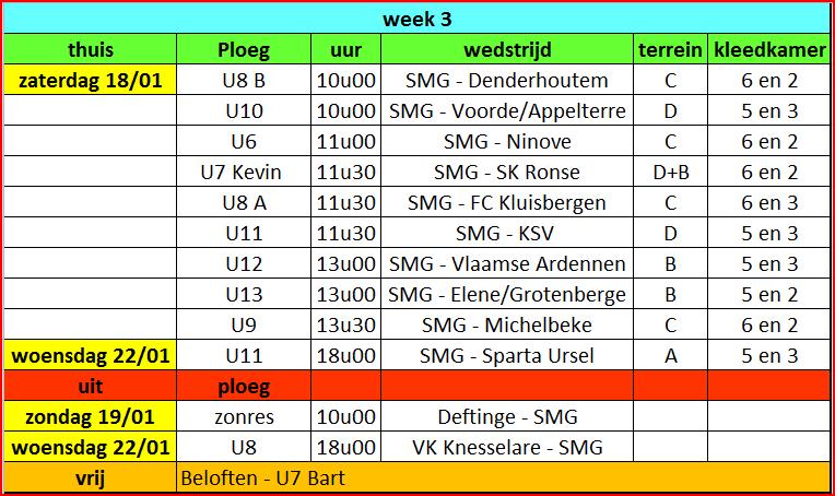wedstrijden week 3
