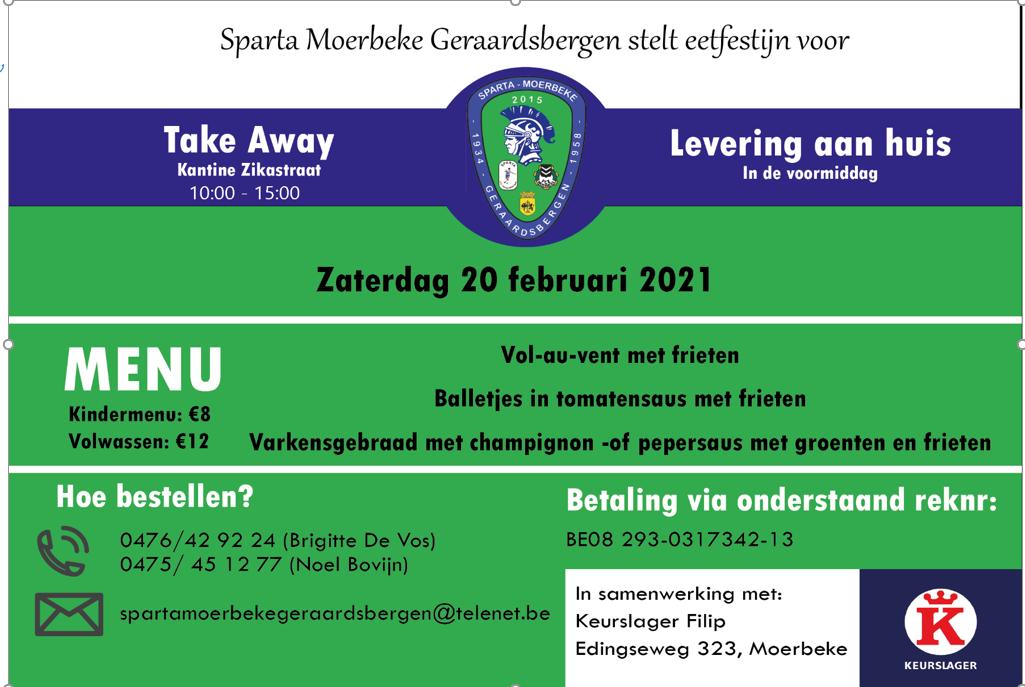 Take Away en levering aan huis 20 februari 2021